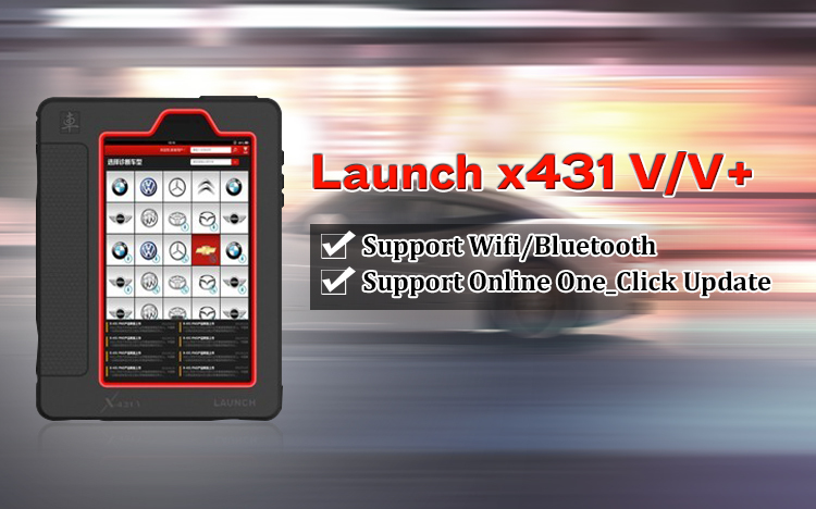 Original Launch X431 X-431 V+ (X431 Pro+ Pro3) Wifi/Bluetooth Tablet Full System Diagnostic Tool