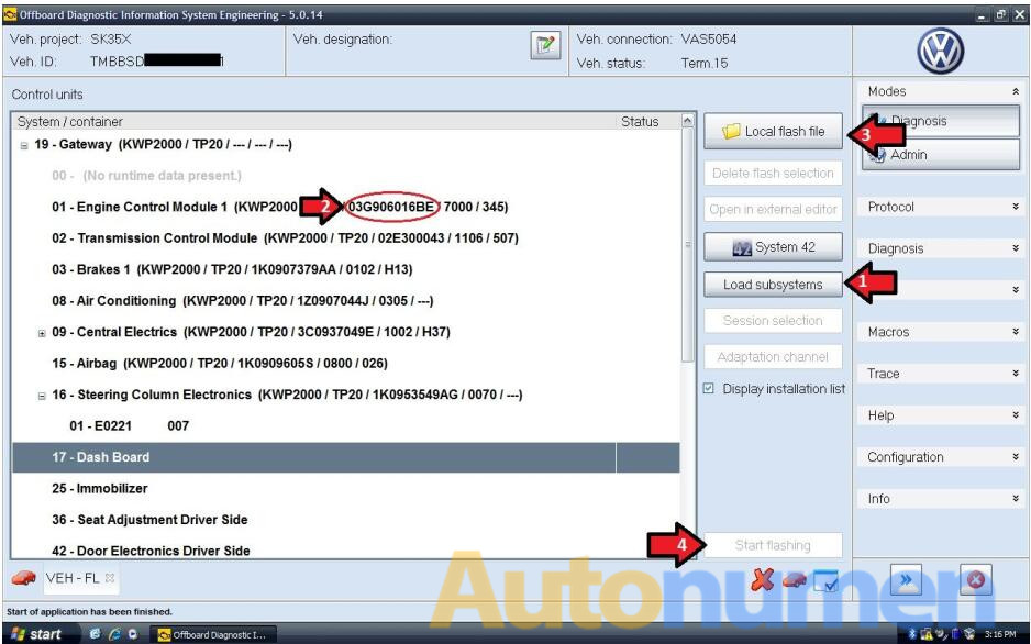 How to Flash Volkswagen ASAM AU56 by ODIS-Engineering-3