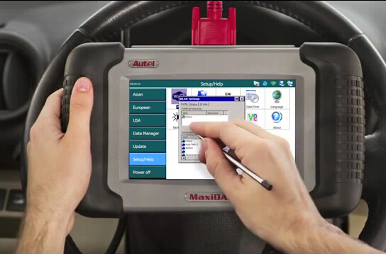How to Autel MaxiDAS DS708 scanner wireless printing-3