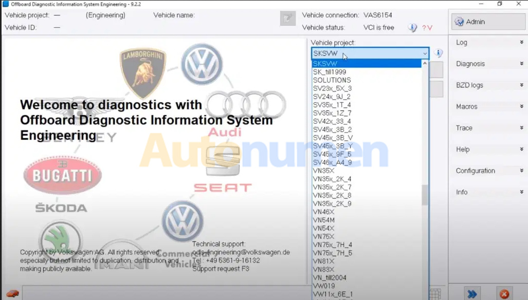 How to flash ecu with VAS6154 and Odis Engineering-1