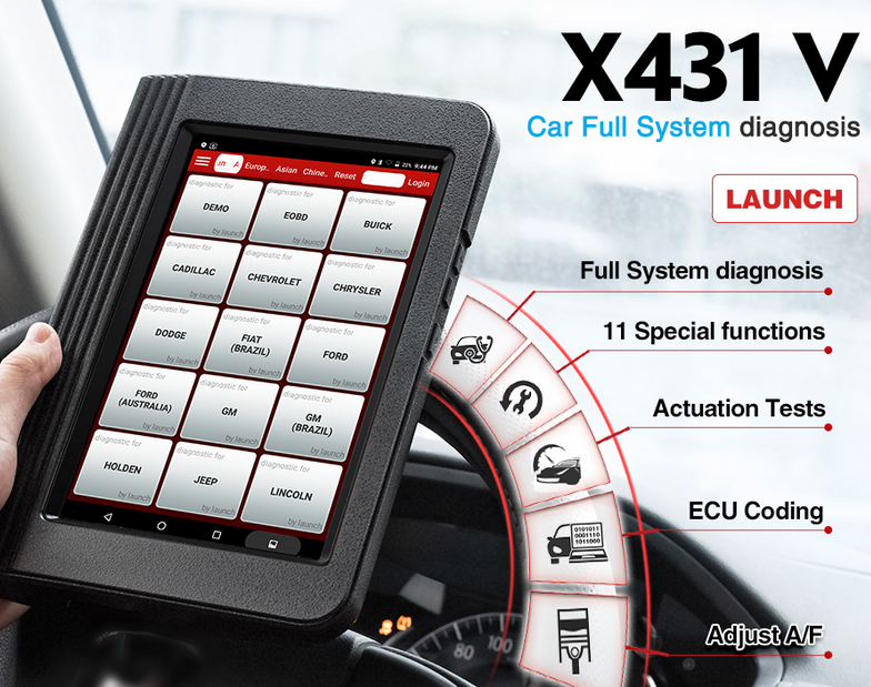 LAUNCH-X431-V-Reset-Service-Function