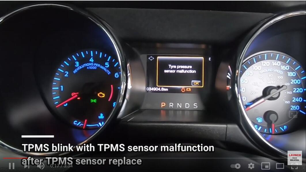 Ford-Mustang-2017-TPMS-relearn-procedure-with-LAUNCH-X431-TSGUN-2