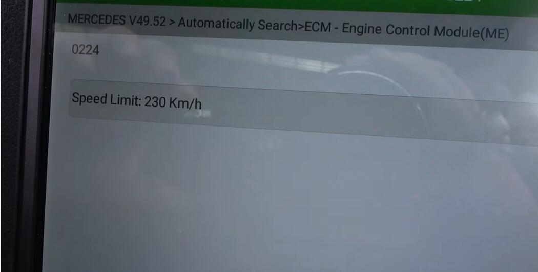 How-to-increase-speed-limiter-on-Mercedes-with-Launch-x431-pro-diagnostic-tool-11
