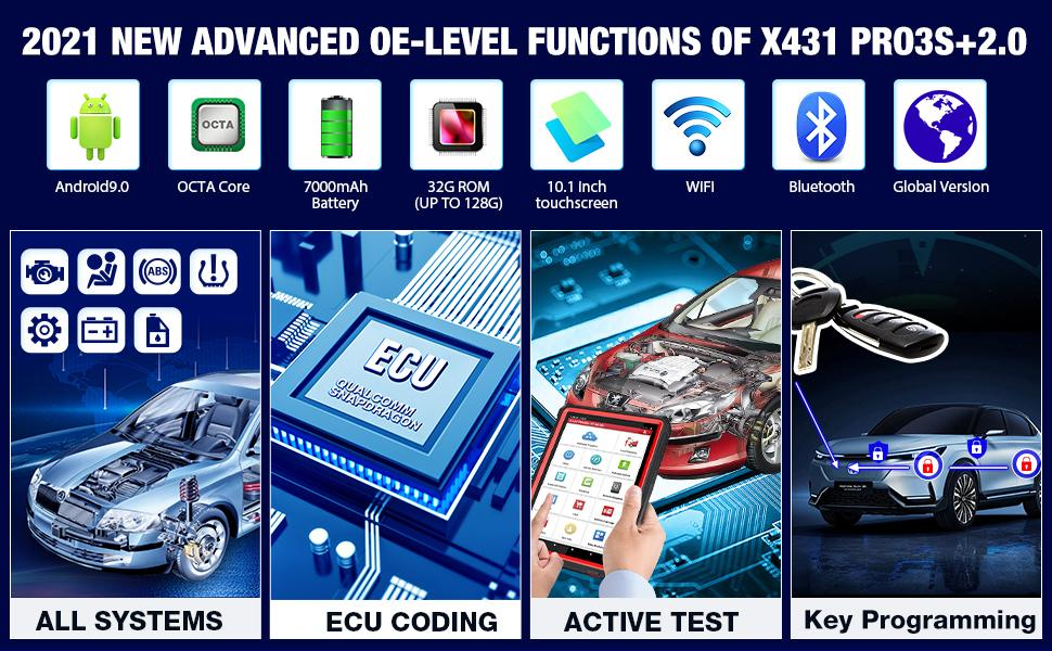 Launch-X431-Pro3s+-Unboxing-2-years-free-update-works-like-X431-V+1