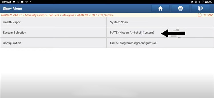 Nissan-Immobilizer-NATS-Key-Register-by-Launch-X431-2