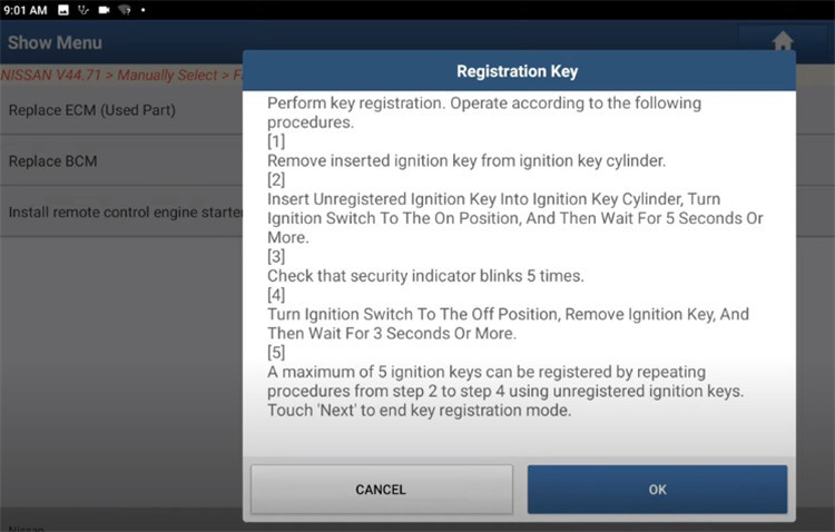 Nissan-Immobilizer-NATS-Key-Register-by-Launch-X431-8